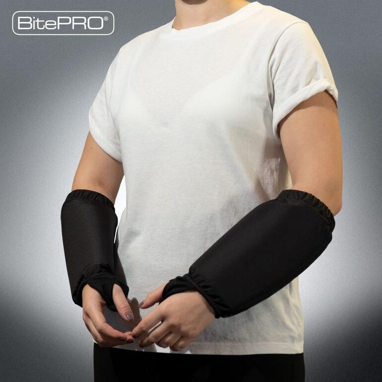 BitePRO®  Bite Resistant Arm Guards V1 -  Added Protection (Black)
