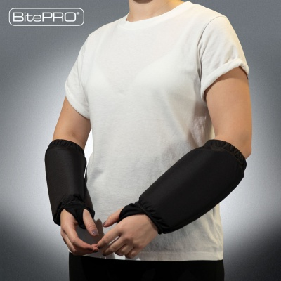 BitePRO®  Bite Resistant Arm Guards V1 -  Added Protection (Black)