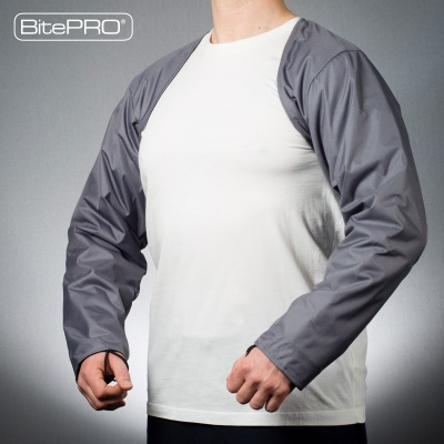 BitePRO®  Bite Resistant Arm Guards v4 Grey