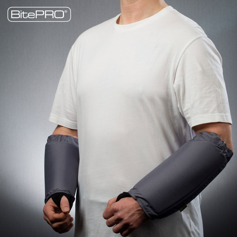 Bite Resistant Arm Guards V1 -  Added Protection (Grey)